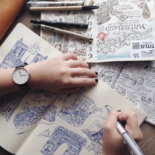 Что рисовать в скетчбуке если не умеешь рисовать. Travel-скетчинг