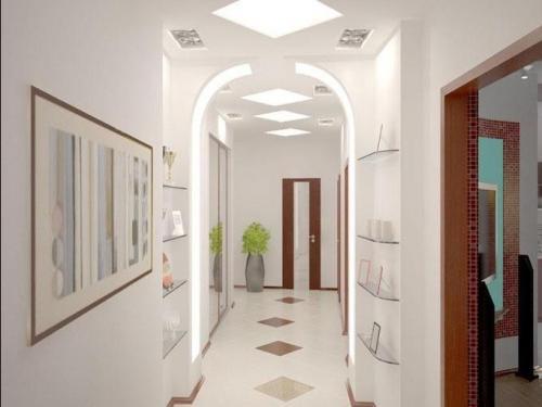 Как расширить визуально длинный узкий коридор в. Как визуально увеличить ширину коридора
