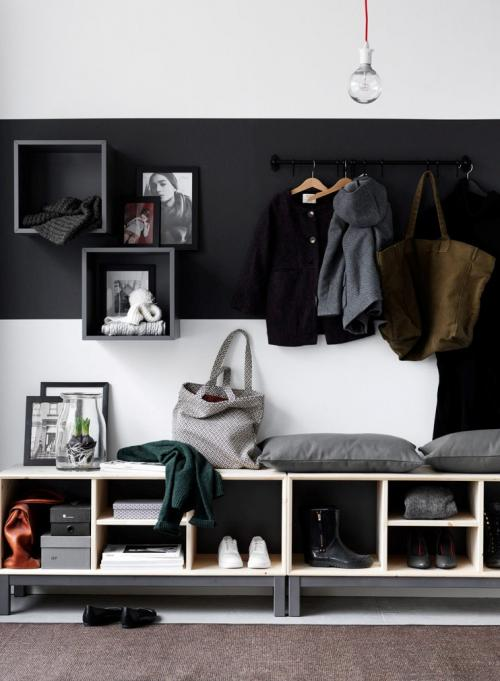 Прихожая Икеа в интерьере. Отличительные черты мебели фирмы Икеа