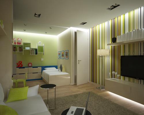 Дизайн однокомнатной квартиры 35 кв м. Рациональный интерьер для семьи с детьми
