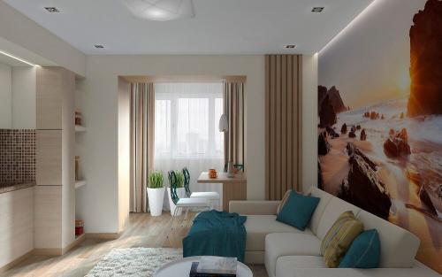 Интерьер гостиной в квартире однокомнатной. Советы по выбору дизайна однокомнатной квартиры