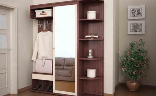 Шкаф для прихожей размеры. Наполнение середины шкафа