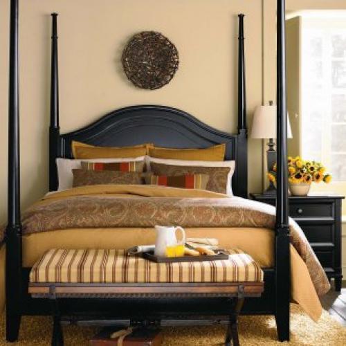 Черная мебель для спальни. Темный цвет в спальне