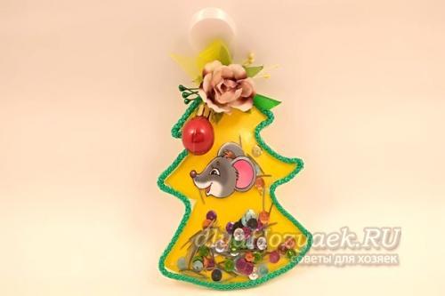 Игрушки своими руками из ткани на новый год. Елочная игрушка в виде елки своими руками к Новому году Крысы