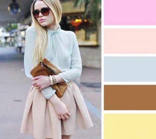 Сочетание цветов бежевый и серый. Как сочетать бежевый цвет в одежде?