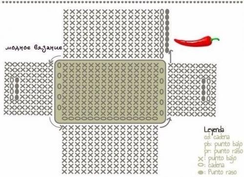 Схема вязания корзинки из трикотажной пряжи крючком 46