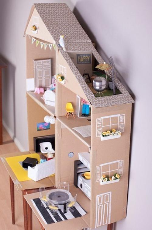 Сделать дом из коробок своими руками