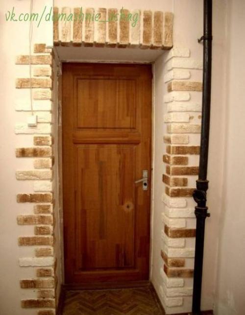 отделка откосов входной двери декоративным камнем всё об