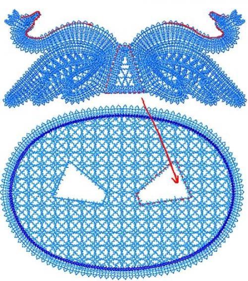 Вязание лебеди крючком