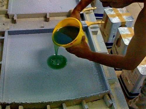 Производство жидкого камня своими руками видео