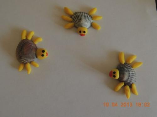Поделки для детей из ракушек и
