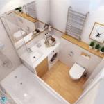 Маленькая ванная комнат 3. 5 кв.