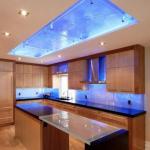 Идеи оригинального освещения на кухне.