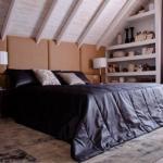 Интерьер мансардной спальни 17 кв.