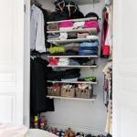 6 вариантов гардеробной комнаты в скандинавском стиле в маленькой квартире.