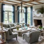 Красивый семейный дом с интерьером в европейском стиле на побережье близ Нью-йорка.