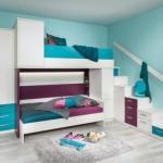 Детская комната в бирюзовых тонах.