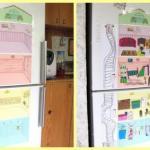 Кукольный домик на холодильнике.