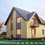 Эскиз проекта двухэтажного дома.