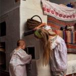 Русская печь.  В интерьере русского традиционного жилища одним из главных элементов являлась печь.