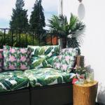 Этот балкон находится в Лондоне и принадлежит дизайнеру интерьеров Мелани.