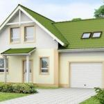 Уютный и функциональный дом со встроенным гаражом.