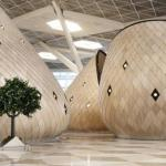 Терминал в международном аэропорту Гейдар алиев в городе баку.