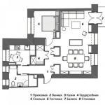 Квартира для холостяка, 65 м.