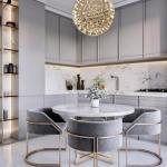 Оцените дизайн кухни - гостиной.