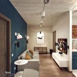 "Дизайн однокомнатной квартиры-""распашонки""."