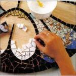 Мозаику для декора.