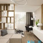 Разработали дизайн - проект отдельных помещений общей площадью 36 кв.
