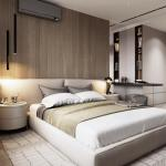 Лаконичный дизайн спальни.