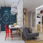 Интерьер квартиры в скандинавском стиле.