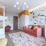 Оцените дизайн детской комнаты.