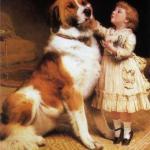 Собаки и дети: трогательные картины английского художника XIX века, на которых отображена вся палитра собачьих эмоций.