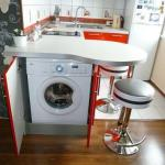 """Все """"за"""" и """"против"""" расположения стиральной машины на кухне."""