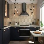 Как вам такой выбор цвета фасадов для кухни в сочетание с деревом?