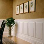 Отделка помещений деревянными стеновыми панелями.