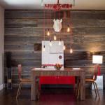Интерьерный тренд: акцентная стена из деревянных досок.
