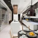 Яркий дизайн интерьера квартиры в таунхаусе в Торонто, Канада.