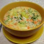 Сырный суп с куриным филе?