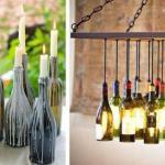 Вторая жизнь стеклянных бутылок: 8 идей.