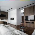 Минималистичная квартира для семьи, живущей за рубежом ч. 1.