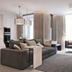 Дизайн интерьера трехкомнатной квартиры 78 кв.