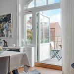 Чудесная квартира на последнем этаже старого дома в Швеции.