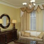 Как красиво повесить шторы в гостиной.