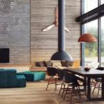 Элегантный интерьер в стиле промышленого лофта от белорусского дизайнера.