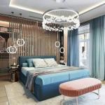 Дизайн - проект спальни с гардеробной.