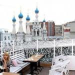 Самые уютные террасы московских ресторанов.